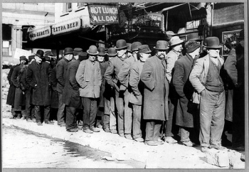 Waiting in Bread Line. Public Domain. Credit: Library of Congress. http://tinyurl.com/atr78fj