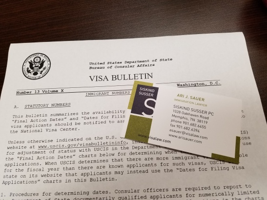 EXPLANATION OF MARCH 2018 DOS VISA BULLETIN | Immigration Lawyer Ari